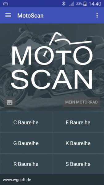 MotoScan App für BMW Motorräder