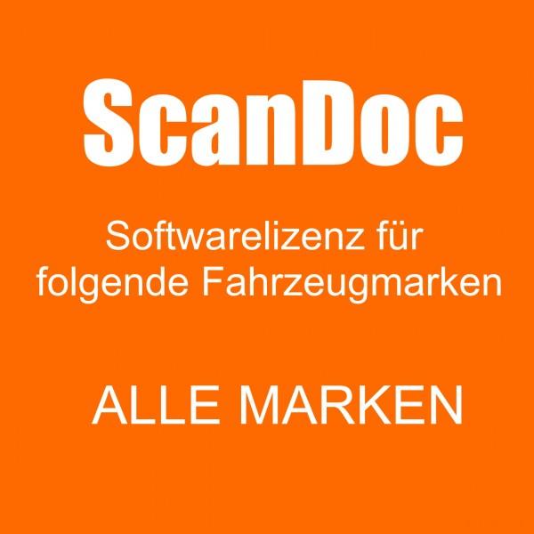 ScanDoc Diagnosesoftware Upgrade auf alle Fahrzeugmarken