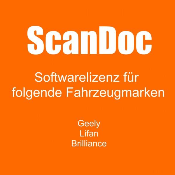 Diagnosesoftware für Geely, Lifan, Brilliance und Wwiling